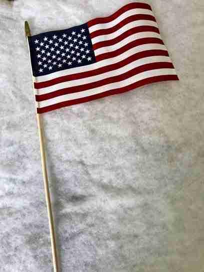 Cotton flag, 12 inch X 18 inch